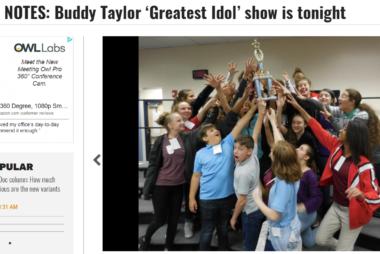 School Notes: Buddy Taylor 'Greatest Idol' show is tonight