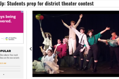 Acting Up: Students Prep for District Theater Contest